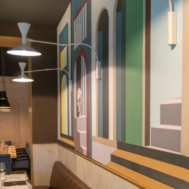 oro restaurant milano nemo lighting